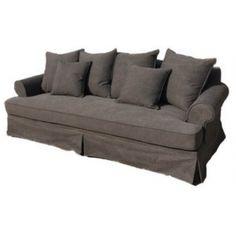 Classic 3 seater Belinda Sofa $2295 Oak Coffee Table, Gray Sofa, 3 Seater Sofa, Sofas, Love Seat, Home And Family, Villa, Cushions, Couch