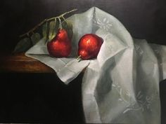 Red Pears by Barbara Jones Oil ~ 16 x 20