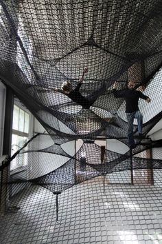 NET - designed/made by Numen/For Use and is displayed at the Belgian gallery Z33.