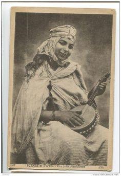 North Africa, Algeria, Types Of Women, Musician - Algeria