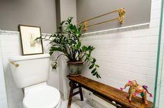 Eclectic Bathroom by indigo & ochre design