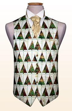 Geometric Christmas trees waistcoat