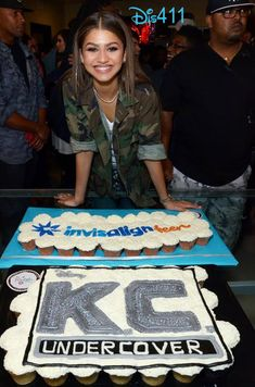 "We have received some really nice pics from the premiere party for Disney Channel's newest series ""K."" Zendaya is standing in front of this Disney Channel Shows, Disney Shows, Zendaya Style, Zendaya Outfits, Zendaya Maree Stoermer Coleman, Family Channel, Spy Party, Olivia Holt, Undercover"
