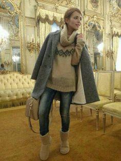 Paula Echevarria:winter look