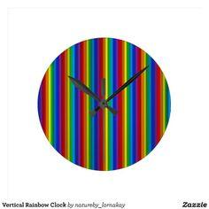 Vertical Rainbow Clock