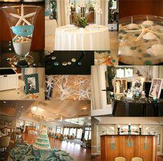 Beach Wedding Reception Inspiration Board