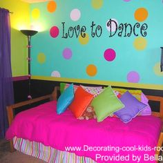 polka dot room ideas for girls - Bing Images Teen Bedroom Designs, Bedroom Decor For Teen Girls, Teenage Girl Bedrooms, Little Girl Rooms, Bedroom Themes, Bedroom Ideas, Bedroom Stuff, Teen Rooms, Kid Bedrooms