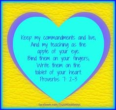Gigi has always told me I am the Apple of the Lord's eye.