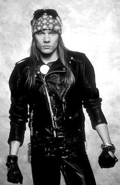 Axl Rose of Guns N' Roses, late '80s