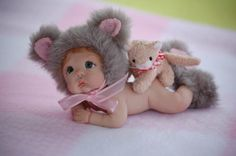 Ooak Polymer Clay Full Sculpt Baby Nixie BY Tatyana |