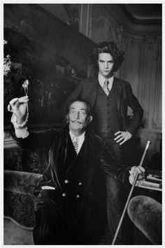 Salvador Dali and young Yves Saint Laurent