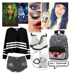 """""""Untitled #145"""" by nerdgirl070 ❤ liked on Polyvore featuring Glamorous, Vans and Dr. Martens"""