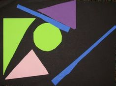 Creating Art With Kids: geometric shape collages