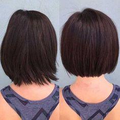New Hair Styles Short Bob Articles 34 Ideas Blunt Bob Haircuts, Messy Bob Hairstyles, Protective Hairstyles, Hairstyles Haircuts, Pretty Hairstyles, Layered Hairstyles, Hairstyle Ideas, Corte Y Color, Haircut And Color