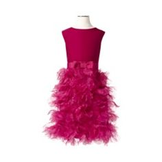 Must find. Must get. Holiday dress by Marchesa for Target. Love the feathers and pink!