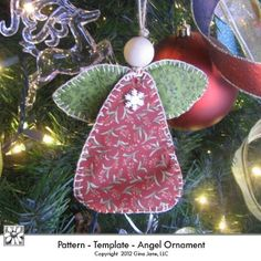 Angel Ornament - Hand Sewn - Stitched Fabric Country Primitive Angel Pattern - Gina Jane Designs - DAISIE Company **(These would be really cute with a little batting and maybe some dangle-y bead legs)** Angel Crafts, Christmas Projects, Diy Crafts For Kids, Decor Crafts, Holiday Crafts, Craft Ideas, Angel Ornaments, Felt Ornaments, Holiday Ornaments