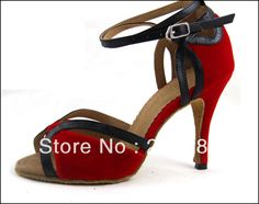 Sexy Ladies Red Velvet LATIN Shoes Ballroom Dance Shoes Salsa Tango Shoes $34.99