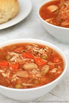 Simply Delicious Slow Cooker Chicken Vegetable Soup from Hungry Girl. Hearty & Satisfying. Just 150 calories, 3 Weight Watchers Points Plus, Simply Filling too! http://simple-nourished-living.com/2014/10/slow-cooker-chicken-vegetable-soup-recipe-hungry-girl/