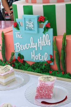 Can you believe this cake from The Beverly Hills Hotel, created in celebration of their 100th birthday? The detail is incredible.
