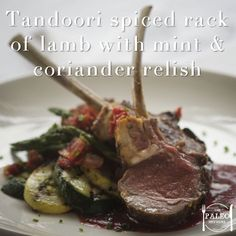 Recipe: Tandoori Spiced Rack of Lamb with Mint and Coriander Relish ...
