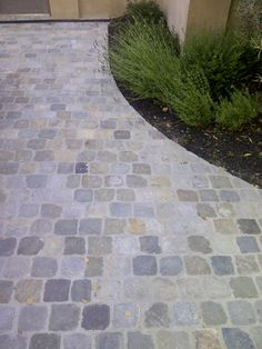 Historic Sidewalk Cobble® has not been exposed to the dirt, oil, eventual asphalt that covered many cobblestone streets. The tops are very flat and patina is warm and colorful. Size: 5″ to 6″ squares x 2″ to 4″ high.Authentic reclaimed antique granite or sandstone cobblestone, excellent for driveways or walkways. Imported from Europe, by Monarch Stone International, nationwide. pavers, old, used cobblestone paving stone, driveways, walkways, Belgian Block.. Cobblestone Paving, Belgian Block, Stone Driveway, Brick Path, Front Walkway, Paving Stones, Granite, Sidewalk, Fabrics