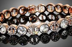 ROSE GOLD PLATED BRACELET.  Rose Gold Plated Zinc Alloy Bracelet.  STARTING AT    78% OFF