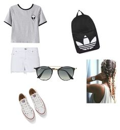 """""""Alien summer"""" by mc2all ❤ liked on Polyvore featuring Chicnova Fashion, rag & bone, Converse, Topshop and Ray-Ban"""