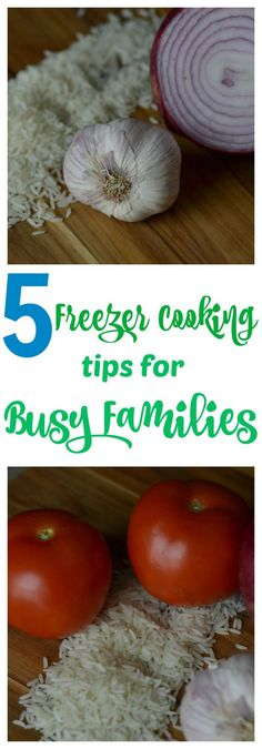 Five of the easiest freezer cooking tips for busy families. Fast easy dinner recipes with the quick prep of freezer cooking.
