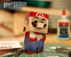 This easy-to-build Mario paper toy in Hako style  was created by Japanese designer Paperman,  from Paperman Returns website.  You will fin...