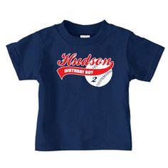 Personalized baseball birthday t shirt boy by PricelessKids, $16.99