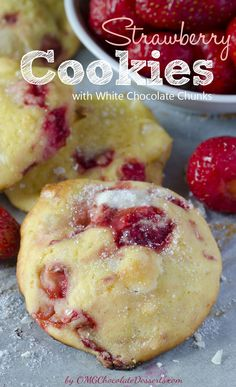 Strawberry white chocolate cream cheese cookies. Switch out for raspberries and I'm so there!