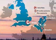Oferta de viaje a Abu Dhabi. Entra, informate y reserva el viaje Circuito de 7 dias por Londres, Bruselas y Amsterdam