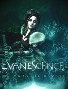 Amazing Image of Evanescence, appears to be a promotional of Evanescence's Single, My Heart is Broken