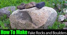 Rocks and boulders add so much to a garden design but they are difficult to move. This video will show how to create fake boulders as alternative. Fake Landscape Rocks, Landscaping With Rocks, Landscaping Supplies, Backyard Landscaping, Landscaping Ideas, Landscaping Software, Backyard Ideas, Landscaping Melbourne, Ponds Backyard