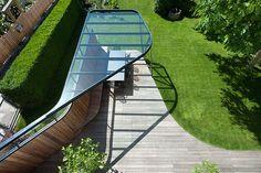 mario gasser constructs steel roofed terrace for austrian villa