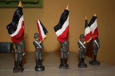 Konvolut 5 alte Hausser Lineol Massesoldaten zu 7.5cm | eBay