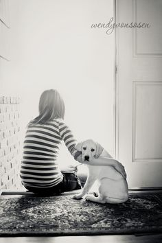 Sweet.  Looks like my daughter and our dog Bobby.  :)