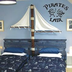 Pirates Only Vinyl Wall Art Decal Sticker - Pirate Decor Kids Room Nursery Boys Room Design, Boys Room Decor, Boy Room, Child's Room, Pirate Bedroom, Kids Bedroom, Pirate Decor, Pirate Theme, Vinyl Wall Art