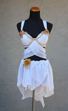 Greek Goddess draped top by CherryToppings on EtsyYou can find Greek goddess costume and more on our website.Greek Goddess draped top by CherryToppings on Etsy Greece Costume, Rave Outfits, Fashion Outfits, Emo Fashion, Gothic Fashion, Greek Dress, Rave Costumes, Halloween Disfraces, Festival Outfits