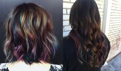Oil Slick Hair: The Fun Color Trend That Actually Works on People With Dark Hair