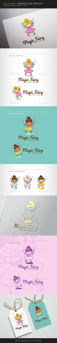 Magic Fairy Logo — Vector EPS #ballerina #butterfly • Available here → https://graphicriver.net/item/magic-fairy-logo/10586480?ref=pxcr