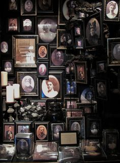 Wall of family portraits at the Blackstone Manor could be done with any old photos that capture your gaze