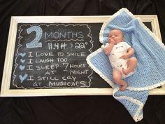 #chalkboard #baby photo - Baby Boy's 2nd month birthday!