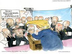 #Trump's #Press Corp by @LTCartoons #munch #edvardmunch #thescream #whpc #humor #satire #comic #cartoon #funny