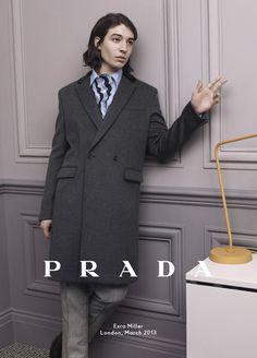 Ezra Miller for Prada FW 2013