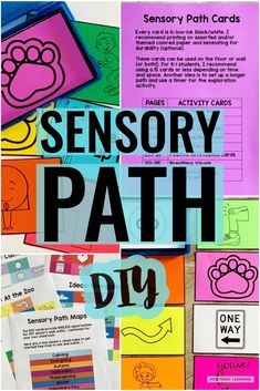 Here are 500 cards to mix and match and create your own sensory walk path. Add these sensory and movement cards to your classroom, hallway, or home.