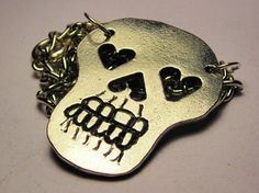 Mexican day of the dead sugar skull pendant necklace - Corso studio