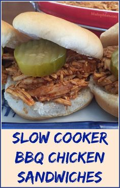 This shredded BBQ chicken Crock-Pot recipe uses enough sauce to flavor the meat, and then people can add extra sauce to their own sandwiches to taste.