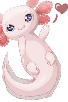 Axolotl 03 by itsAnori.deviantart.com on @DeviantArt