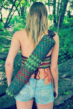 sustainable yoga mat bag.  choose your colors. the universal mind